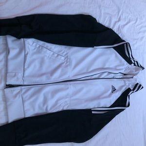 White & Black adidas Jacket.